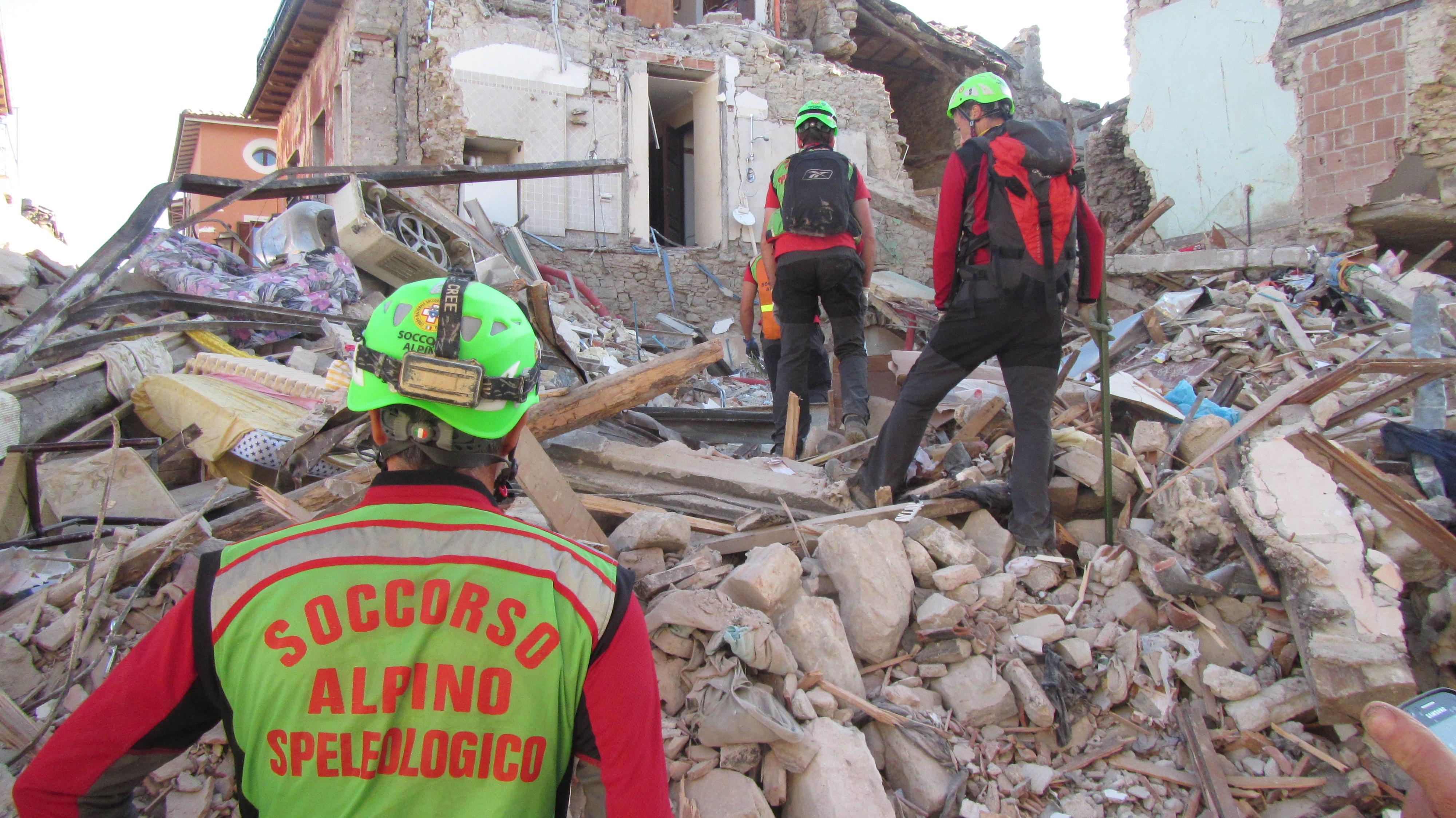soccorso alpino terremoto